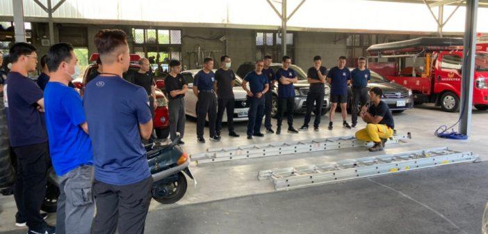 消防局中隊常訓-雙節梯操作訓練