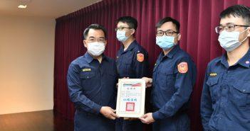 中巿警局表揚警察防疫尖