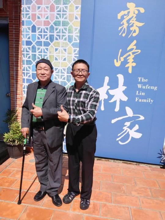 左霧峰林家草厝文化工作室負責人林義德、右焦點時報社文創分社長吳旻高